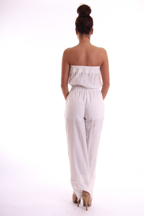 Jacky Luxury jumpsuit in wit met kant