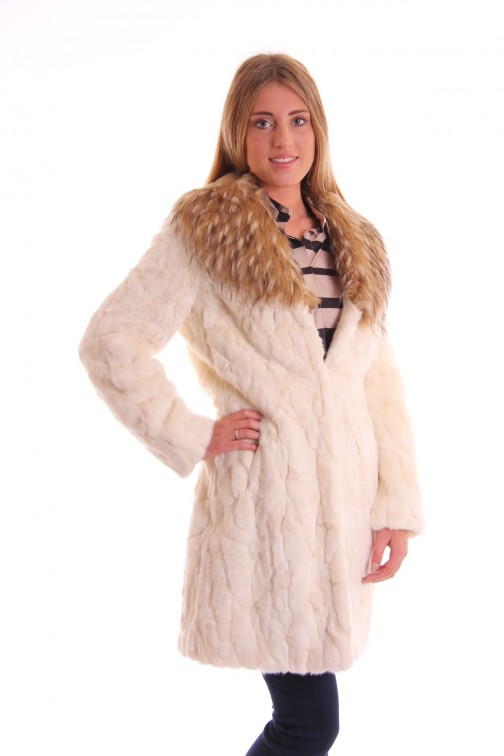 Fracomina fur coat in fakefur