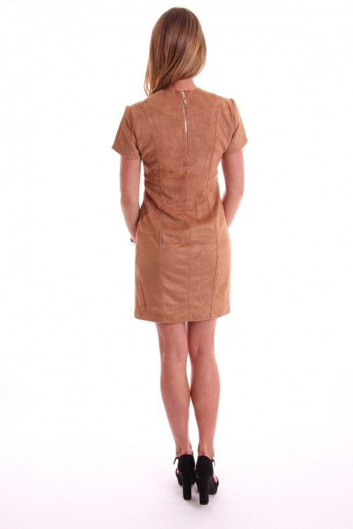 Josh V Laurien dress in suede