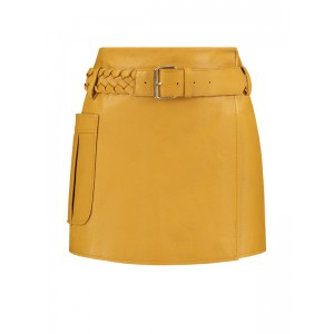 Nikkie N3-248 1905 Myra leather skirt in amber