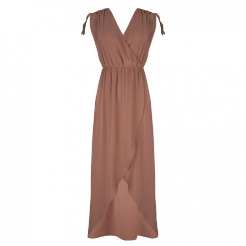 Jacky Luxury JLHS19018 maxidress in tan