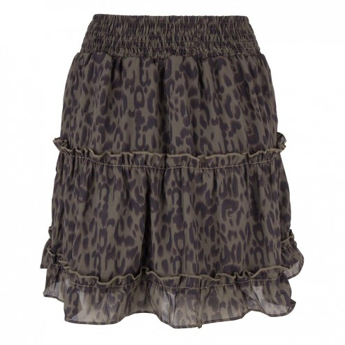 Jacky Luxury JLHS19017 ruches skirt in army