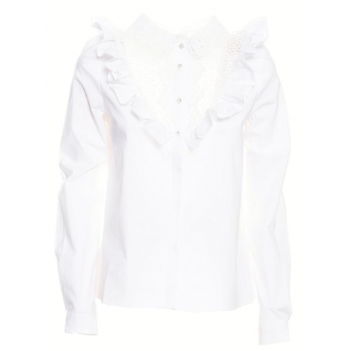 Fracomina FR19FP411 Long sleeves blouse white