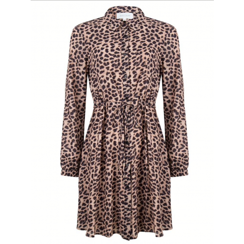 Jacky Luxury JLFW19044 button dress leopard