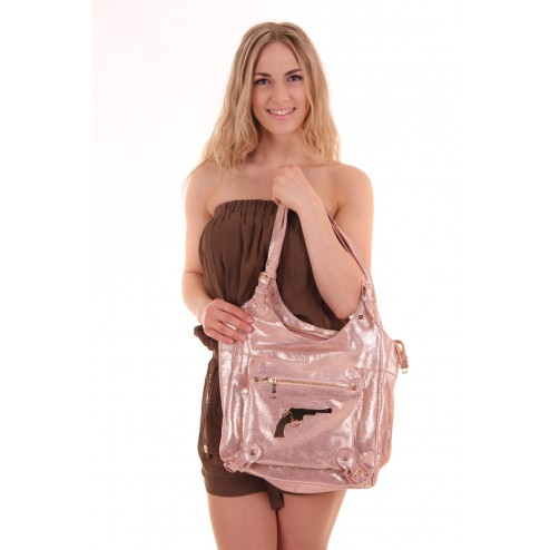 Josh V bag in rosé gold, The Top bag of the sahara collection