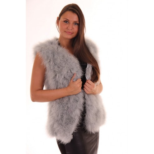 Louise feathers waistcoat by Ibana Rouge in grey.