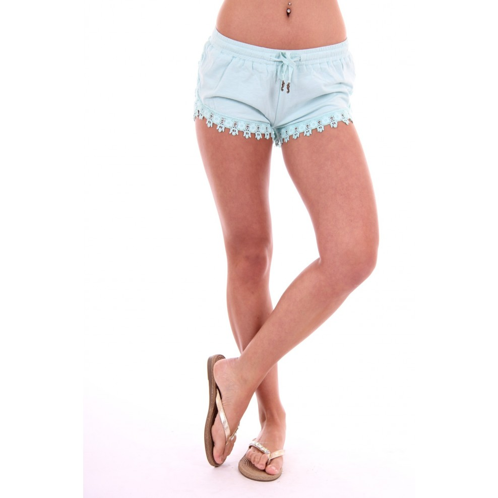 Isla Ibiza short with lace in turquoise