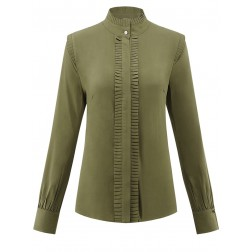 Its Given Linda blouse in army green