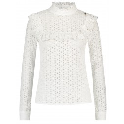 Its Given Nina broderie top in wit