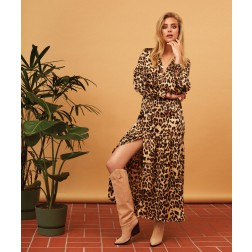 Josh V Rosemary maxidress in leopard