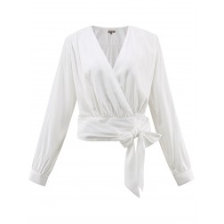It's Given Elly wrap blouse in wit
