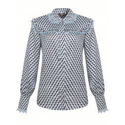 Its Given Suze blouse in blue