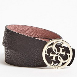 Guess reversible belt black - pink