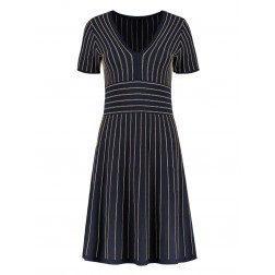 Nikkie Kelis dress in navy met goud