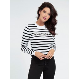 Guess Zoe striped jumper - strass logo