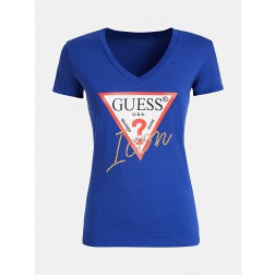 Guess Icon t-shirt in kobalt
