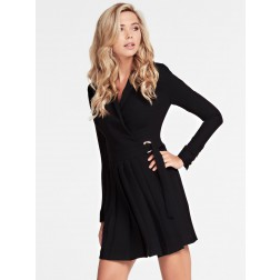 Guess Atlas dress met plissé in zwart