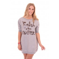 Exactly swaeterdress by relish in grey