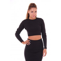 Cropped top de Jacky Luxury in black