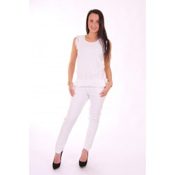 Liu Jo jumpsuit in wit met kant