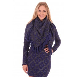 B.loved scarf whit fringes in navy