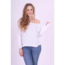Gaudi sweater with cristals in white