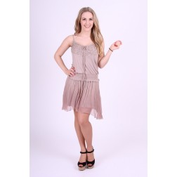 Gaudi dress in grey with cristals