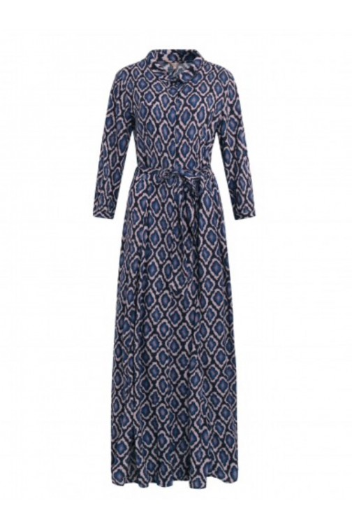 Its Given Cleo maxidress blue snake