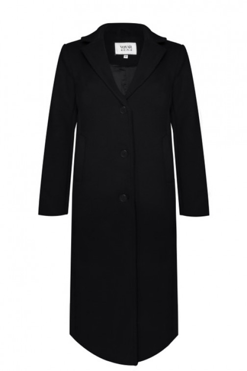 Voyar la Rue Camari coat in black