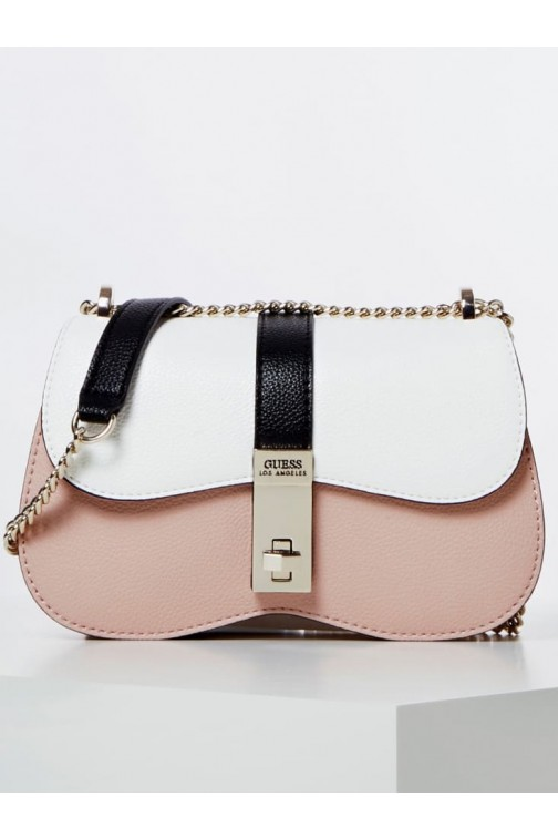 Guess Asher schoudertas in pink-white