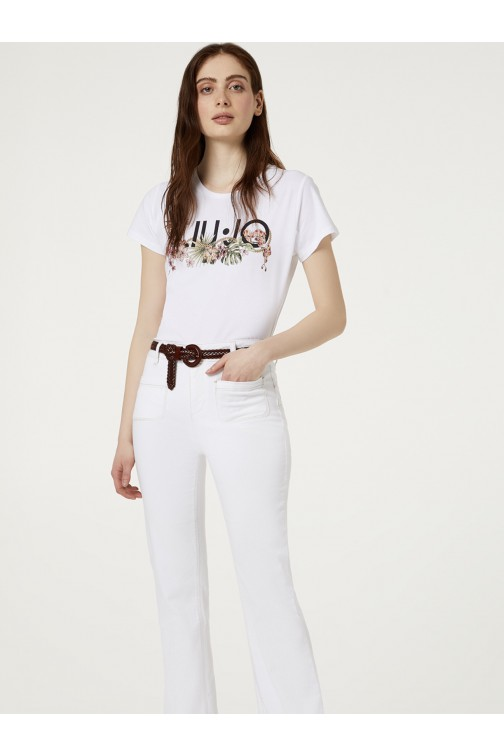 LiuJo t-shirt met tropical print