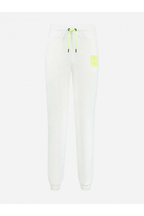 Nikkie One sweatpants white - lime