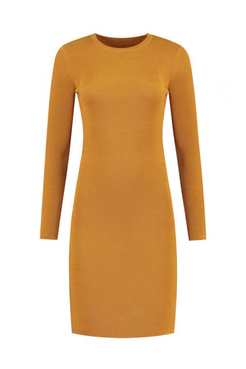 Nikkie Jolie lurex dress in Amber