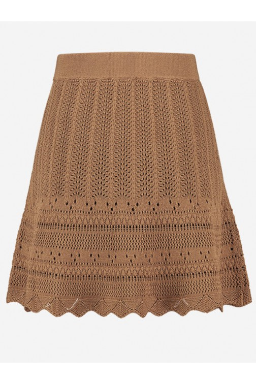 Nikkie Jade skirt crochet in caramel
