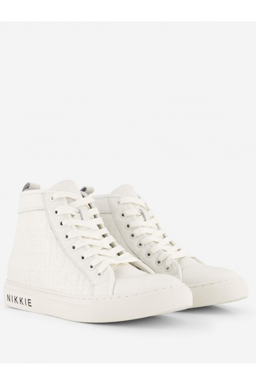 Nikkie Mouna sneakers Cream all over logo