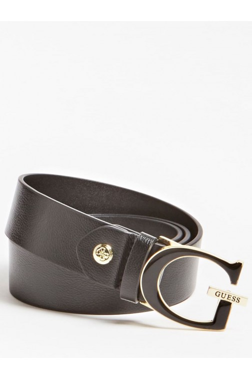 Guess belt with G logo closure