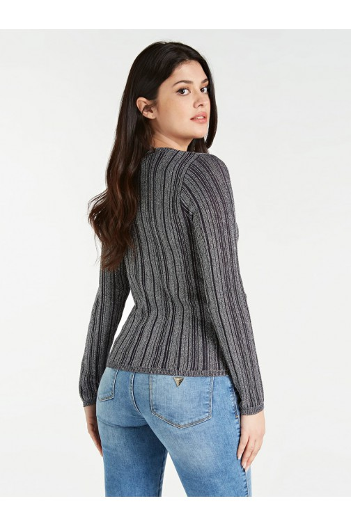 Guess Giada sweater lurex striped