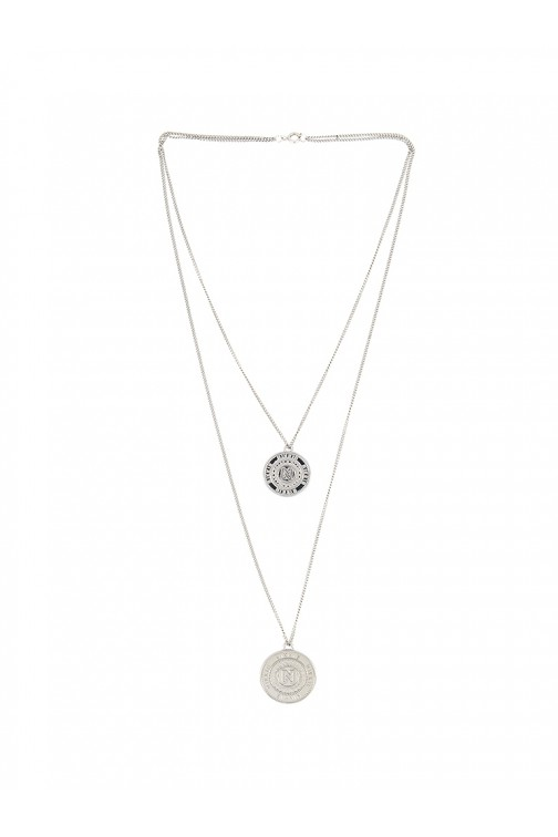 Nikkie necklace - Coins in zilver