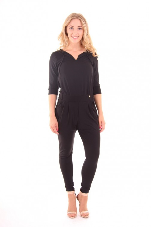 Relish Jumpsuit in black with long sleeves: Tutta Ruding