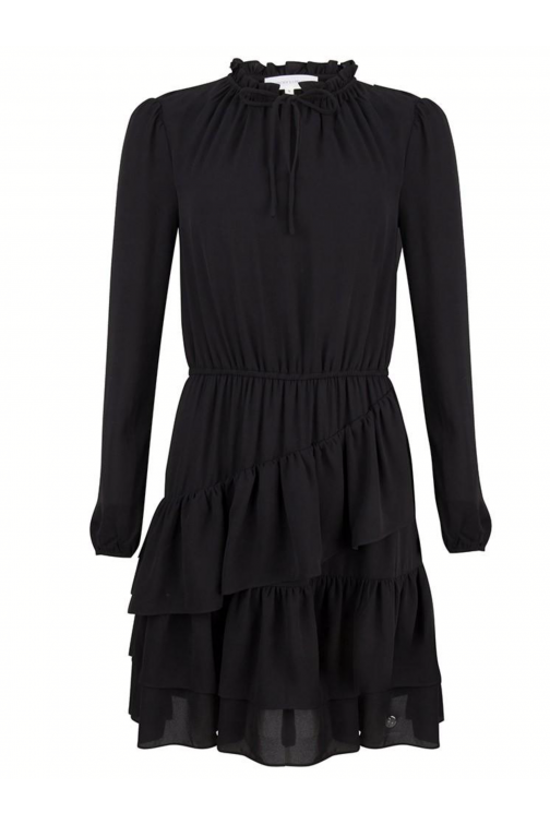 Jacky Luxury ruffle dress in zwart