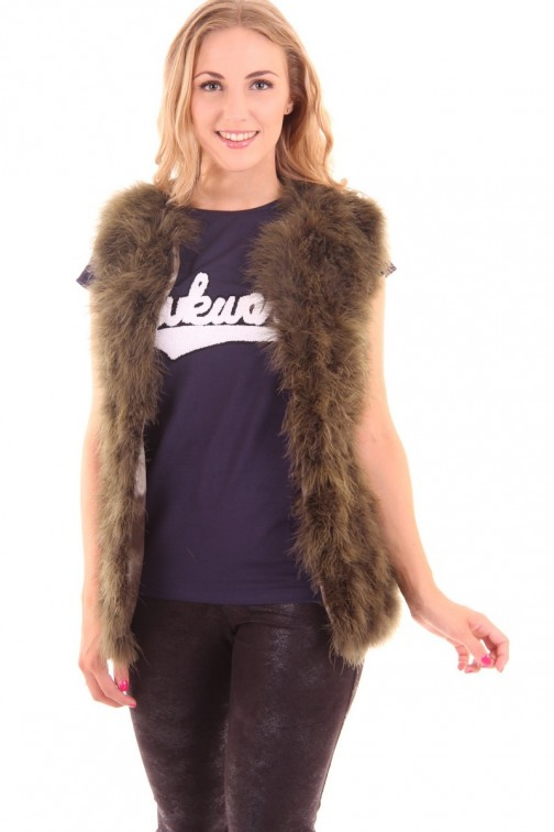 Ibana waistcoat made of feathers, Louise in army