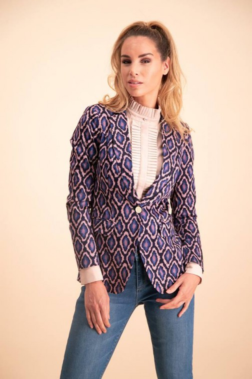 Its Given Vanessa blazer snakeprint blue
