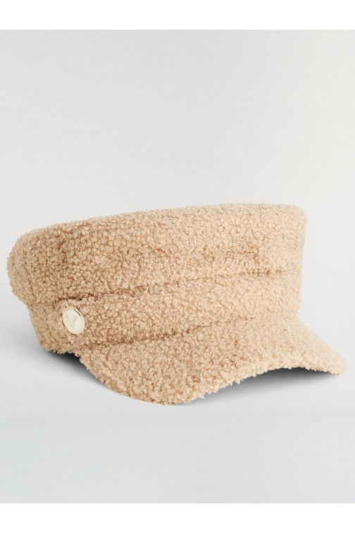 Josh V Halsey hat in teddy - almond