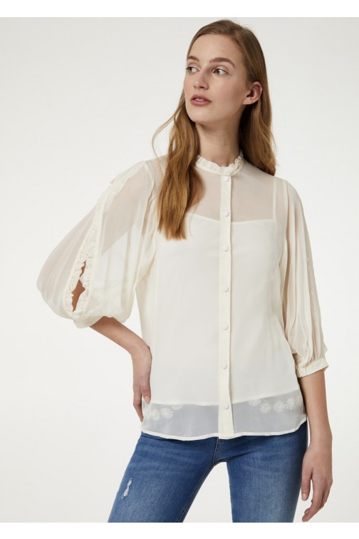 LiuJo blouse Open sleeves - cream