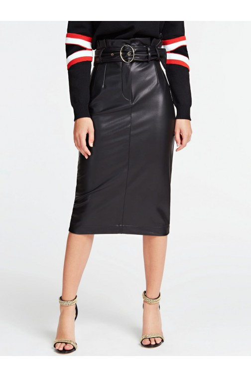 Guess Helene midi skirt -  leather look