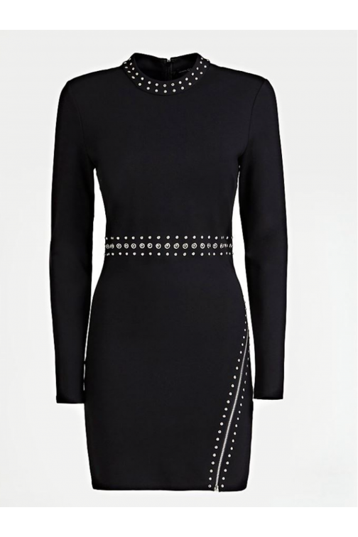 Guess dress met studs in zwart