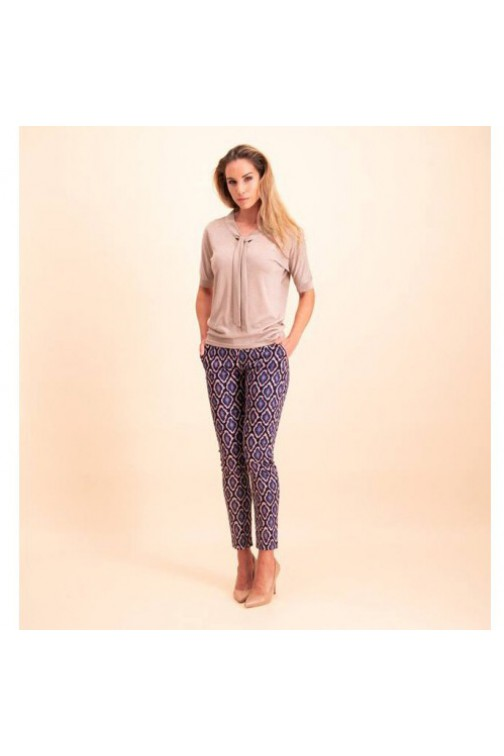 Its Given Joline broek snakeprint - bleu