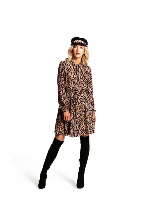 Jacky Luxury overhemd jurk in leopard