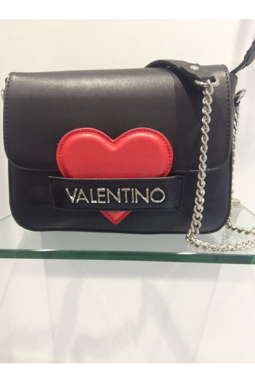 Valentino CoCo schoudertas in zwart - red heart