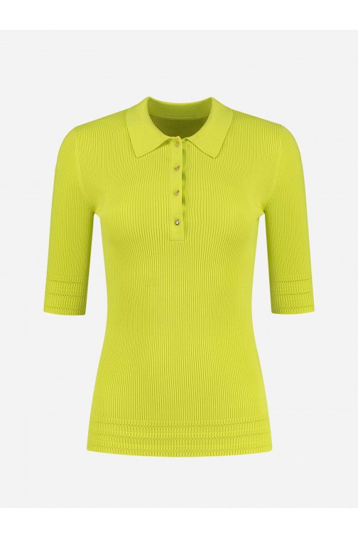 Nikkie Gaby polo top in poison green
